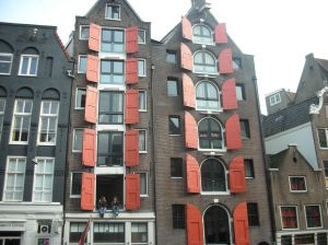 Red doors building