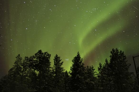 Aurora Borealis dancing in Ivalo, Finland
