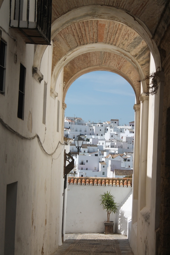 White houses in Vejer de la Frontera, Cadiz (Spain)